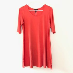 NEW Eileen Fisher Elbow Sleeve Tunic Top Pink